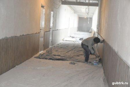 В гимназии №6 в истиннее время полным ходом следует капитальный ремонт
